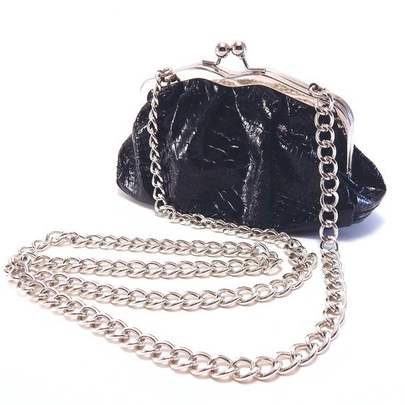 c3f4a668f933 Apt. 9 Bags | Black Apt 9 Faux Snakeskin Chain Shoulder Bag | Poshmark